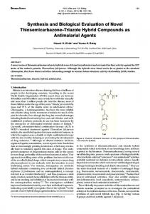 Synthesis and Biological Evaluation of Novel Thiosemicarbazone ...