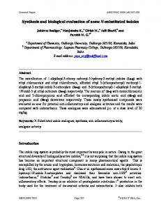 Synthesis and biological evaluation of some N-substituted ... - Arkivoc