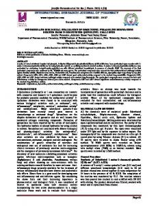 synthesis and biological evaluation of some novel pyrazoline ...