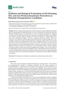 Synthesis and Biological Evaluations of NO-Donating Oxa- and ... - MDPI