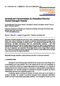Synthesis and Characterisation of a Polysulfone-Polyvinyl Alcohol ...