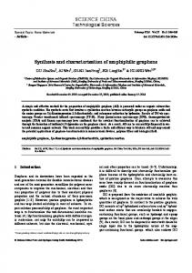 Synthesis and characterization of amphiphilic graphene | SpringerLink