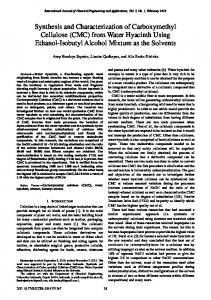 Synthesis and Characterization of Carboxymethyl Cellulose (CMC ...