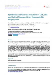 Synthesis and Characterization of CdS, ZnS and CdZnS Nanoparticles