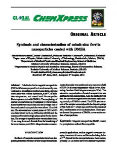 Synthesis and characterization of cobalt-zinc ferrite nanoparticles ...