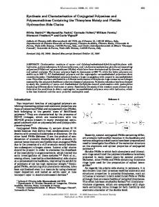 Synthesis and Characterization of Conjugated ... - ACS Publications