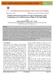 Synthesis and Characterization of Copper Nanoparticles, Using ...