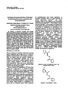 Synthesis and characterization of dinuclear molybdenum(VI ... - NOPR