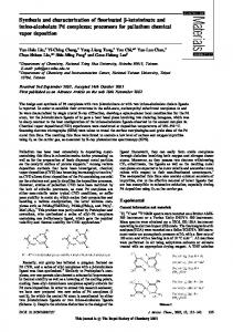 Synthesis and characterization of fluorinated b-ketoiminate and imino ...