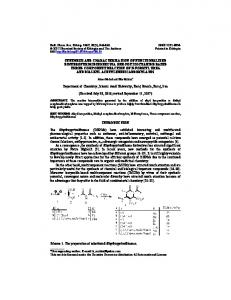 SYNTHESIS AND CHARACTERIZATION OF FUNCTIONALIZED ...