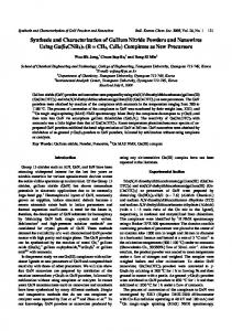 Synthesis and Characterization of Gallium Nitride ... - EaseChem.com