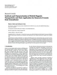 Synthesis and Characterization of Hybrid-Magnetic Nanoparticles and ...