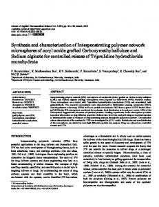 Synthesis and characterization of Interpenetrating polymer network ...
