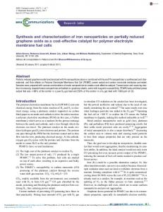 Synthesis and characterization of iron nanoparticles