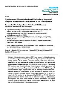 Synthesis and Characterization of Molecularly ... - BioMedSearch