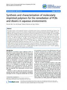 Synthesis and characterization of molecularly ... - Semantic Scholar