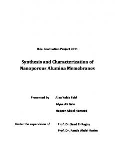 Synthesis and Characterization of Nanoporous ...