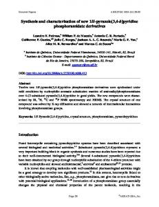 Synthesis and characterization of new 1H-pyrazolo[3,4-b ... - Arkivoc