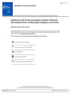 Synthesis and Characterization of New Chalcone ...