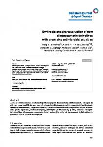 Synthesis and characterization of new ... - Semantic Scholar