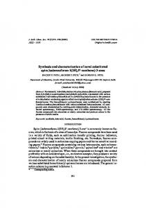 Synthesis and characterization of novel substituted spiro ...