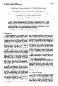 Synthesis and Characterization of Novel ZrO2-SiO2 Mixed ... - Scielo.br
