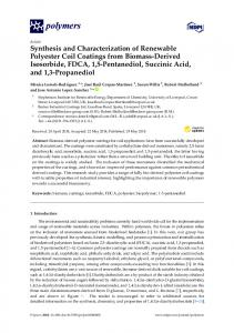 Synthesis and Characterization of Renewable Polyester Coil Coatings ...