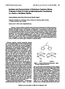 Synthesis and Characterization of Ruthenium ... - CSJ Journals