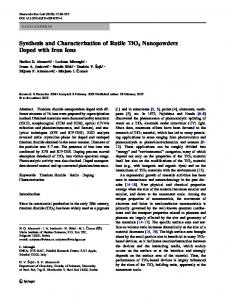 Synthesis and Characterization of Rutile TiO2 Nanopowders ... - Core