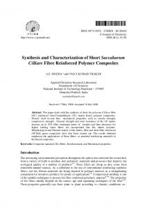 Synthesis and Characterization of Short Saccaharum ... - Hindawi
