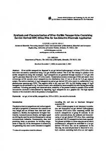 Synthesis and Characterization of Silver Sulfide Nanoparticles ...