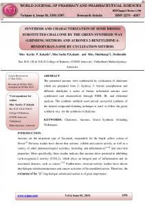 synthesis and characterization of some bromo substituted ... - wjpps