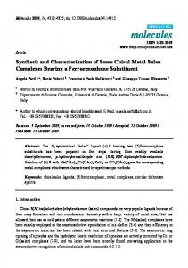 Synthesis and Characterization of Some Chiral ... - Semantic Scholar