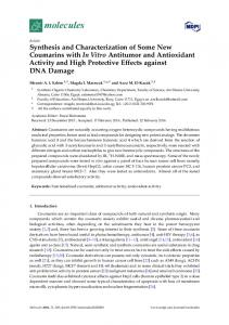 Synthesis and Characterization of Some New Coumarins with ... - MDPI