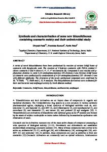 Synthesis and characterization of some new