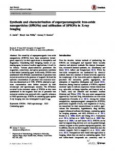 Synthesis and characterization of superparamagnetic iron-oxide ...