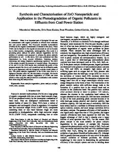 Synthesis and Characterization of ZnO Nanoparticle ...