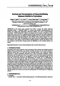Synthesis and Characterization of