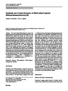 Synthesis and Crystal Structure of Bis (N-alkyl-N-phenyl ...