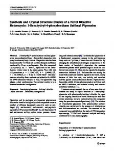 Synthesis and Crystal Structure Studies of a Novel ... - Springer Link
