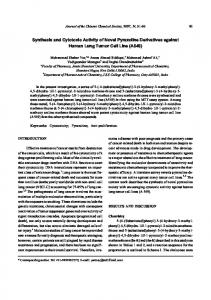 Synthesis and Cytotoxic Activity of Novel ... - Wiley Online Library