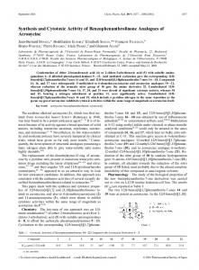 Synthesis and Cytotoxic Activity of ... - Semantic Scholar