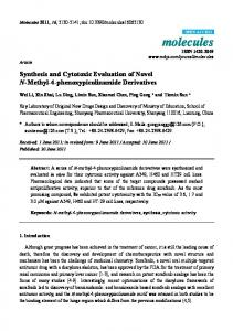 Synthesis and Cytotoxic Evaluation of Novel N-Methyl-4 ... - MDPI