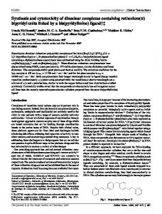 Synthesis and cytotoxicity of dinuclear complexes containing ...