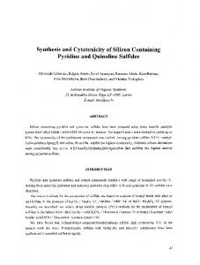Synthesis and Cytotoxicity of Silicon Containing - BioMedSearch