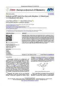 Synthesis and DFT study of novel pyrazole, thiophene, 1,3-thiazole