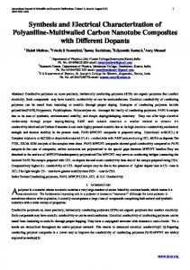 Synthesis and Electrical Characterization of Polyaniline ... - Ijsrp.org