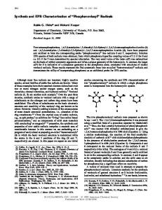 Synthesis and EPR Characterization of ... - ACS Publications