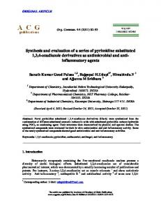 Synthesis and evaluation of a series of pyrimidine ... - ACG Publications