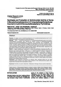 Synthesis and Evaluation of Antimicrobial Activity of Some 2 ...